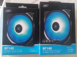 Kit Deepcool RF 140, 140mm, RGB (1 kit com 2 + 1)