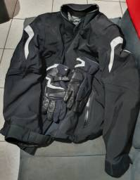 Jaqueta e Luva para motociclista