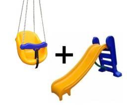 Dia das Crianças Promoção Brinquedos: Escorregador Médio e Balanço Baby
