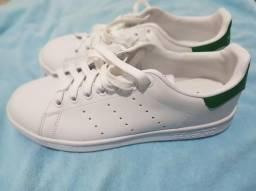 Tênis Adidas Stan Smith White Green comprar usado  Belo Horizonte