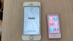 iPhone 5s + iPod nano 7ª geração