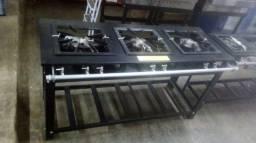 Fogão industrial 40x40 de 3 bocas