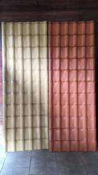 Telha de pvc Precon na cor ceramica e marfim- pronta entrega - parcelamos