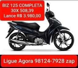 BIZ 125 COMPLETA Lance R$ 3.980,00 Consórcio Andamento