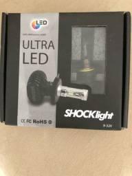 KIt Lâmpadas Ultra Led H7 Shocklight 8000K
