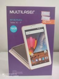 "Tablet Multilaser M7 Plus, 7"", Quad-Core, 16GB, Wi-Fi e 3G"