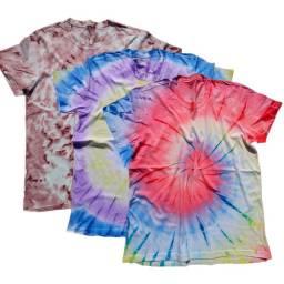 Kit 3 Camisetas Tide Dye Verão 2021