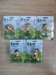 Kit Bonecos Fuleco - Copa do Mundo 2014. 8cm