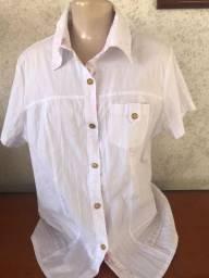 Camisas e blusas femininas brancas - vários modelos e tamanhos - PMG - preço de cada uma
