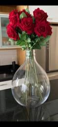 Arranjo de rosas de veludo 75 cm de altura