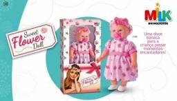 Boneca Sweet Flower Doll - Milk Brinquedos