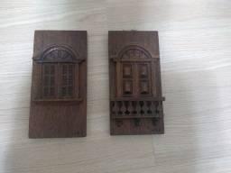 Quadros de madeira maciça