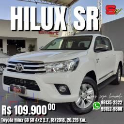 Smart Veículos - Toyota Hilux CD SR 4x2 2.7, 18/2018, 20.219 Km. R$ 109.900,00