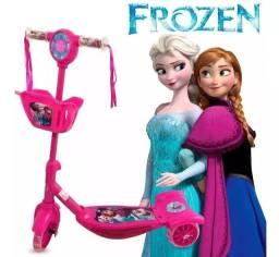Patinet Infantil 3rodas Triciculo Rosa Luz/sons cestinha lol unicornio frozen princesas
