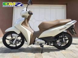 Honda Biz 125 2018 Branca com 14.000 km