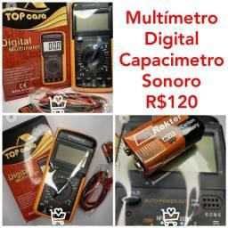 Multímetro Digital Capacimetro Sonoro