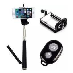 (WhatsApp) bastão de selfie c/ controle remoto bluetooth