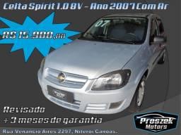 Celta Spirit 1.0 8V - Ano 2007 com Ar condicionado