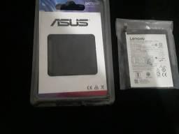 2 baterias novas Motorola e asus