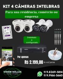 Título do anúncio: Kit completo Intelbras, com 4 câmeras