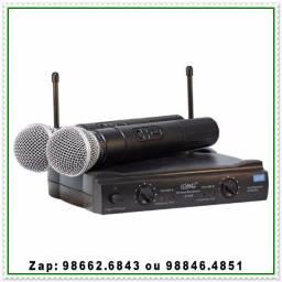 Microfone Kit com duas Unidades, Sem Fio Profissional. NOVO