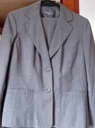 Título do anúncio: Blazer Cinza 44/46 - conjunto com calça