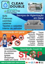 Higienização de sofas,carpetes etc.Detetização de ratos,baratas etc. Sanitização Covid 19