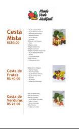 Cestas de Frutas e Verduras