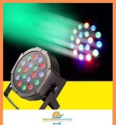 Canhão de Luz 18 Leds RGB Jogo de Luz Iluminação DJ