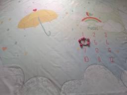 Cenário Mesversário Chuva de Amor (lençol)