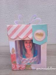 Caixa + caneca com foto da mamãe