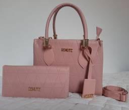 Kit bolsa e carteira feminina