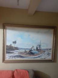 Quadro pintado a óleo Marina Jangadeiro