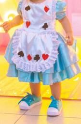 Vestido Alice no país das maravilhas tamanho 1 ano