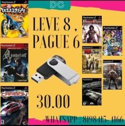 Leve 8 Pague 6 - Jogos No Pendrive ou HD