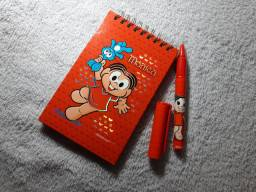 Bloquinho e caneta R$12,00