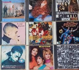 Lote com 9 CDs antigos originais raridade