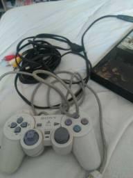 PS2 com controle e jogos PS2 em ótimo estado funcionando