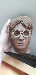 Cabeça busto MDF 3d Harry Potter