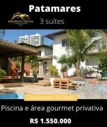 Casa 3 Suítes com Piscina e Área Gourmet Privativa