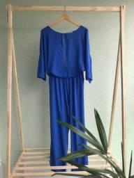 Macacão longo azul royal
