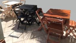 Conjuntos dobráveis com mesa e cadeiras - Fabricamos