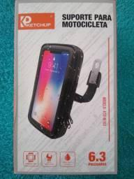Suporte para celular e GPS 6.3 a prova de água para moto