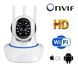 Câmera Robozinho 3 Antenas Imagens Alta Definição Alarme Sensor Movimento