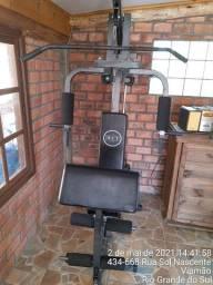 Estação De Musculação WCT Fitness 80kg - Preto+Cinza<br><br>