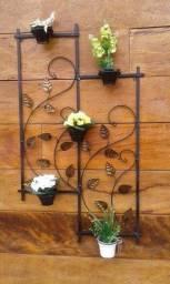 Floreira de parede rústica