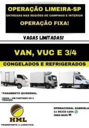 Título do anúncio: Operação em Limeira veículo refrigerados