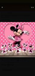 Título do anúncio: Painel de aniversário da Minnie rosa