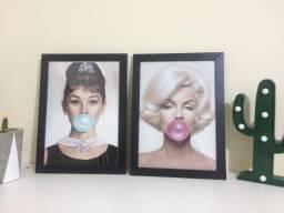 Conjunto de quadros Audrey e Marilyn