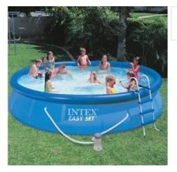 Vendo piscina inflável 12mil litros com escada e bomba filtro nunca usada!